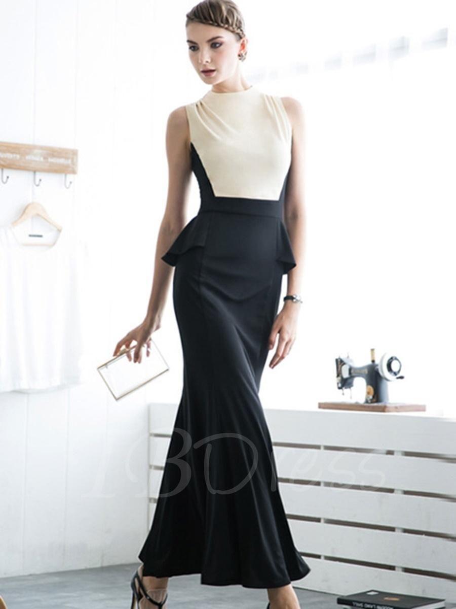 Tbdress tbdress doublelayered sleeveless womens maxi dress