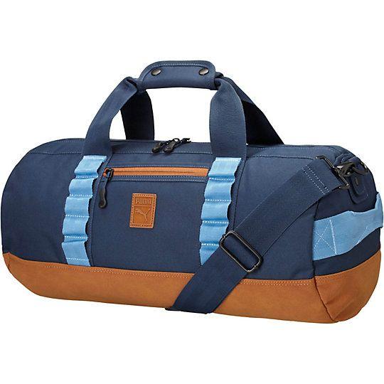 puma blue gym bag