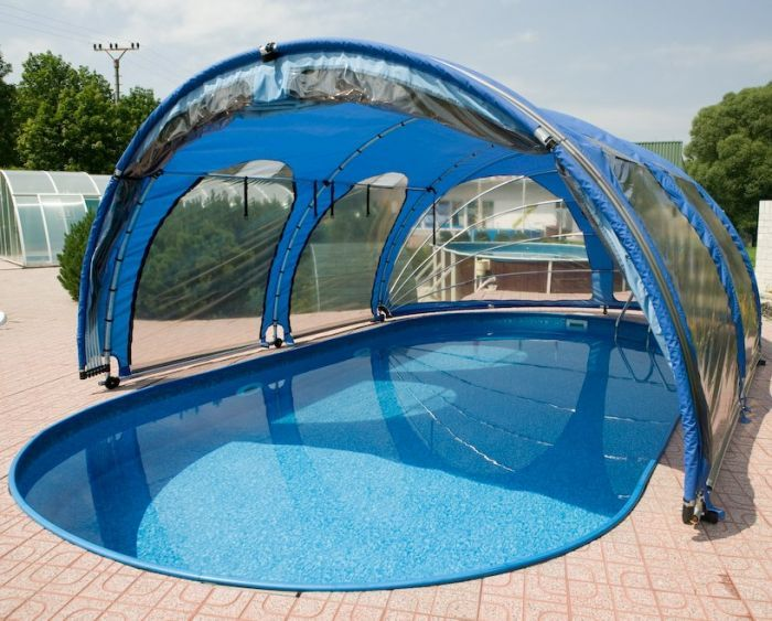 Mobile Pool Enclosure Enclosures Oval Pool Small Backyard Pools