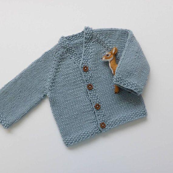 Warm knit baby cardigan merino knit baby cardigan handknit sweater handmade newborn knit - Tejer chaqueta bebe 6 meses ...