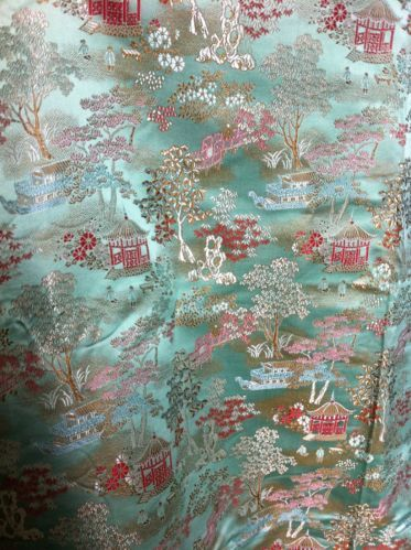 Length Vintage Chinese Silk Brocade 4 Yards 36 Inches Wide | eBay