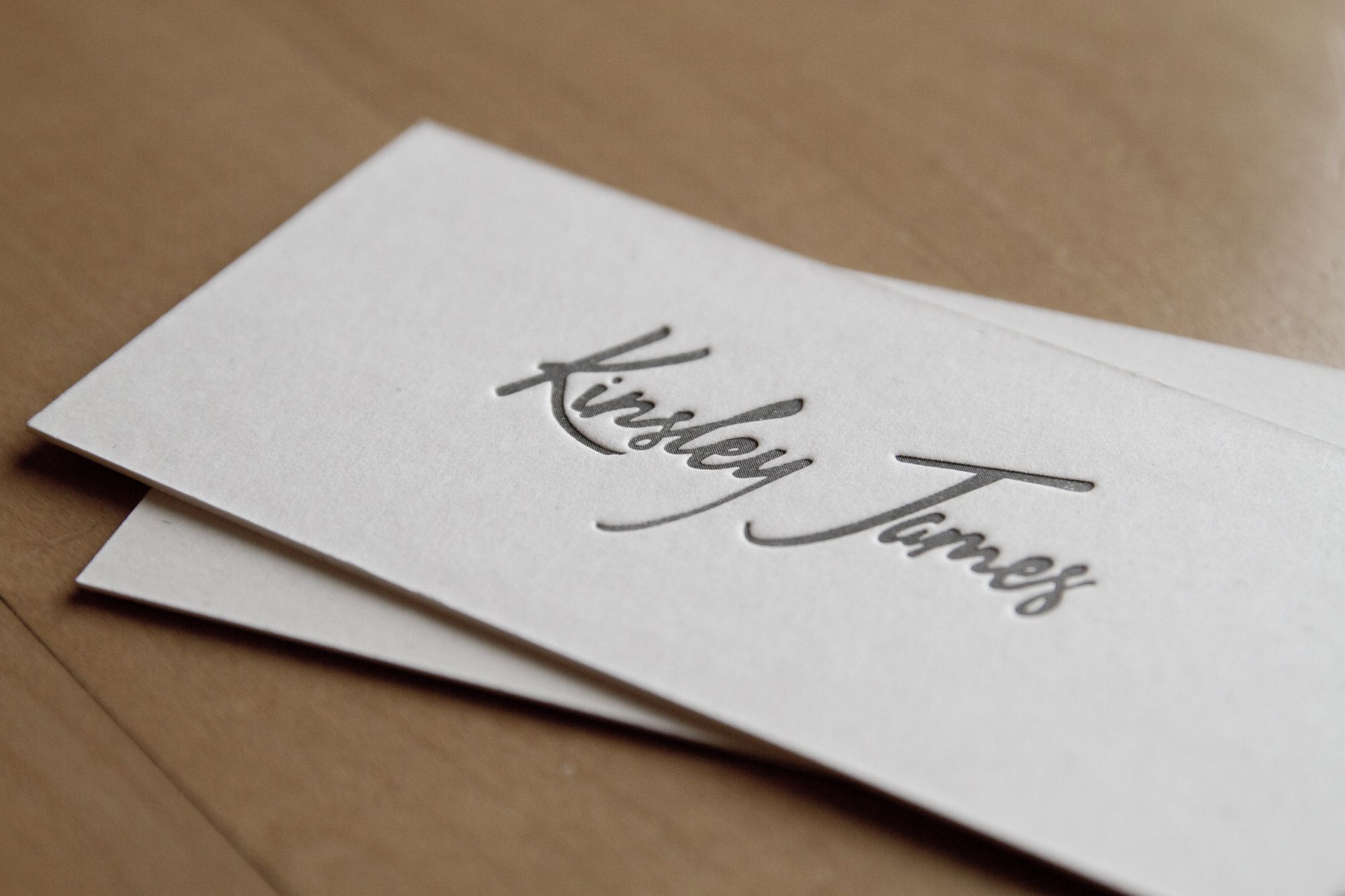 Rockdesign High End Business Cards Smooth White Uncoated