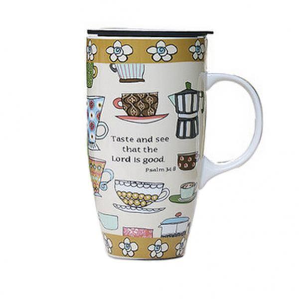 Tawny Fl Mug Coffee Mugs Hand Painted Funny Juice Milk