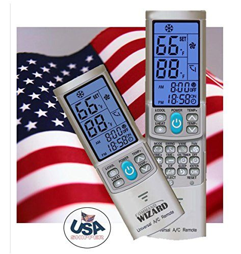 Universal Ac Remote Control Silver Grey For Mini Split Ductless