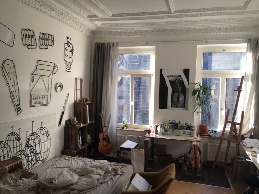 Nice Schönes WG Zimmer Mit Cooler Wandgestaltung. #WGZimmer #Schlafzimmer  #Einrichtung #Einrichtungsidee
