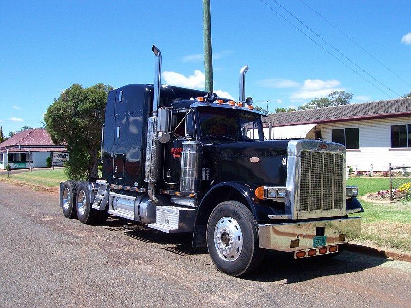 Black dog peterbilt black dog train truck semi trucks