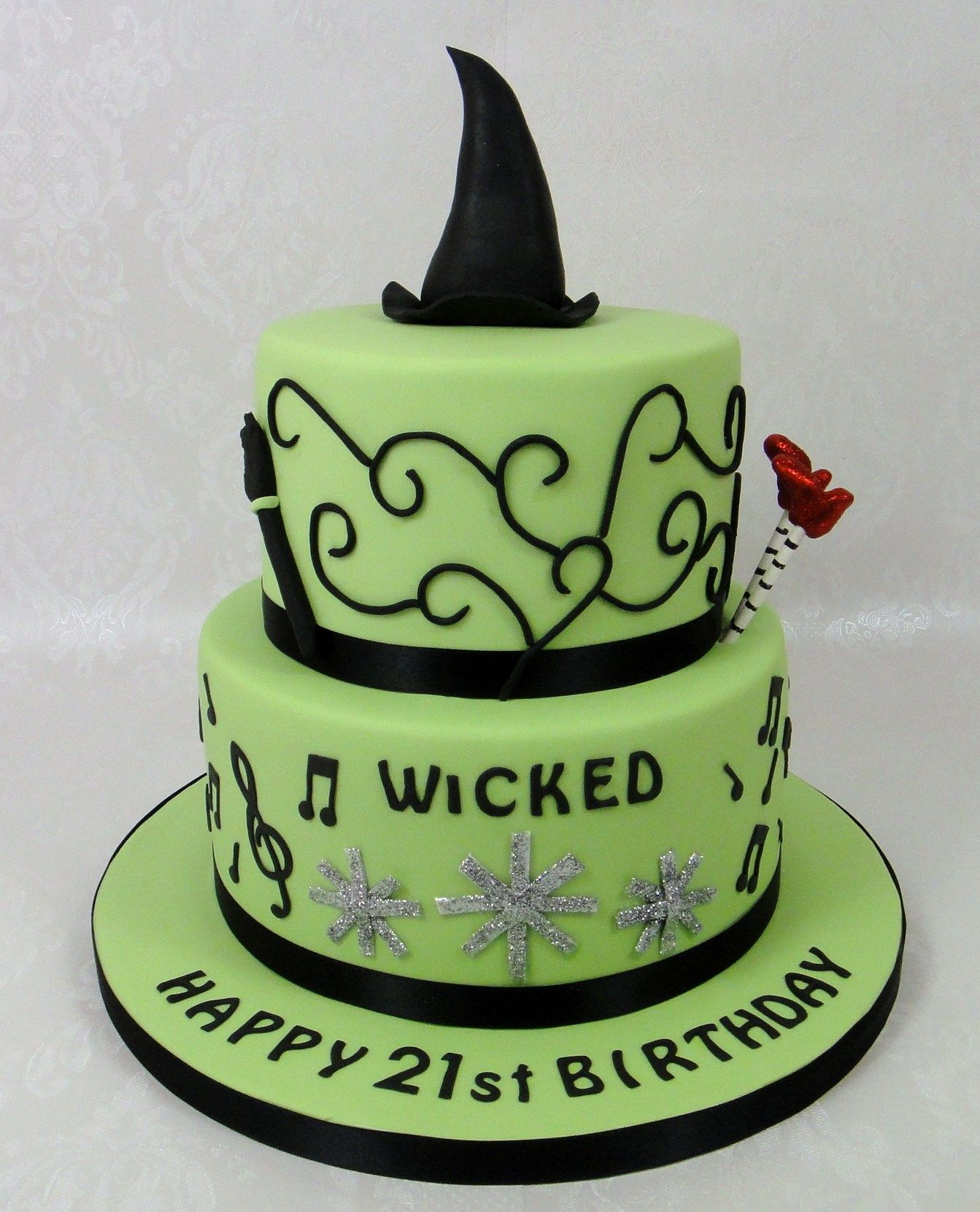 Wicked The Musical Themed Birthday Cake 07917815712 Www