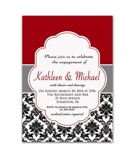 Hey I found this really awesome Etsy listing at httpsetsy – Red Party Invitations