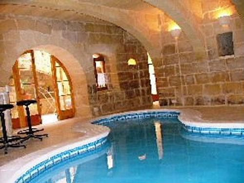 Gozo Holiday Rent: A Converted Mill House On Two Floors, Located In Gharb  (Gozo), With A Good Sized Heated Indoor Pool And Another Small Indoor Pool.