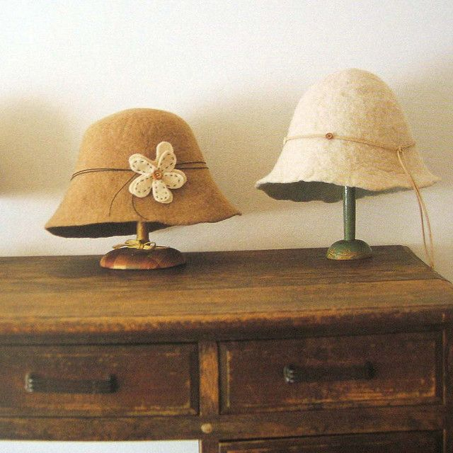 really want to make a wet felted hat----- 9784277431156 felt hats by feltcafe, via Flickr