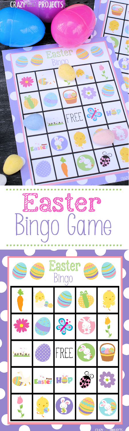 Free Printable Easter Bingo Game! Fun for playing with kids at Easter.