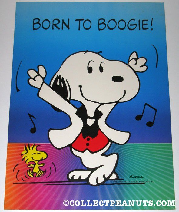 Disco Snoopy  Woodstock 'Born to Boogie' Poster n