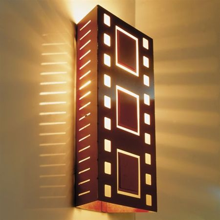 B Fimstrip Home Theater Wall Sconce Light Copper New