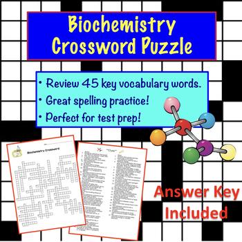 Biochemistry Crossword Puzzle   Chemistry, Homework and Science biology