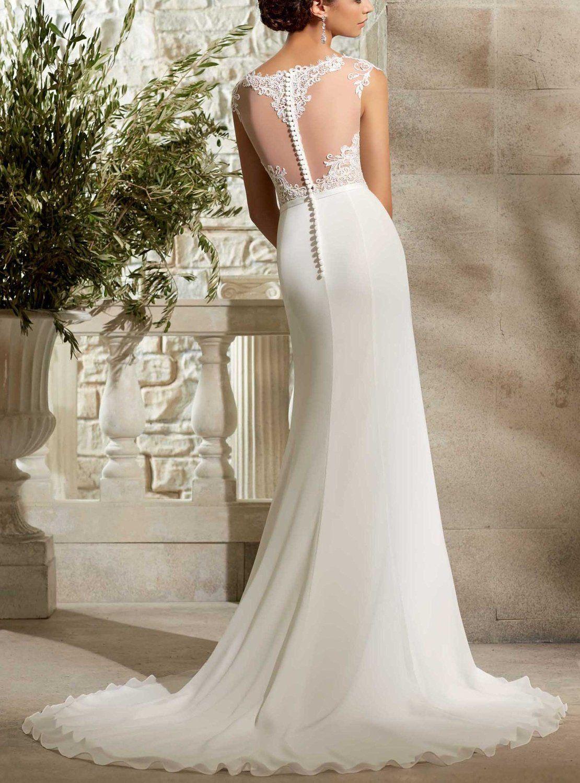 Sleeveless Bateau Neck Pleats Chiffon Wedding Dress General Mori Lee Wedding Dress Designer Bridal Gowns Wedding Dresses [ 1500 x 1110 Pixel ]