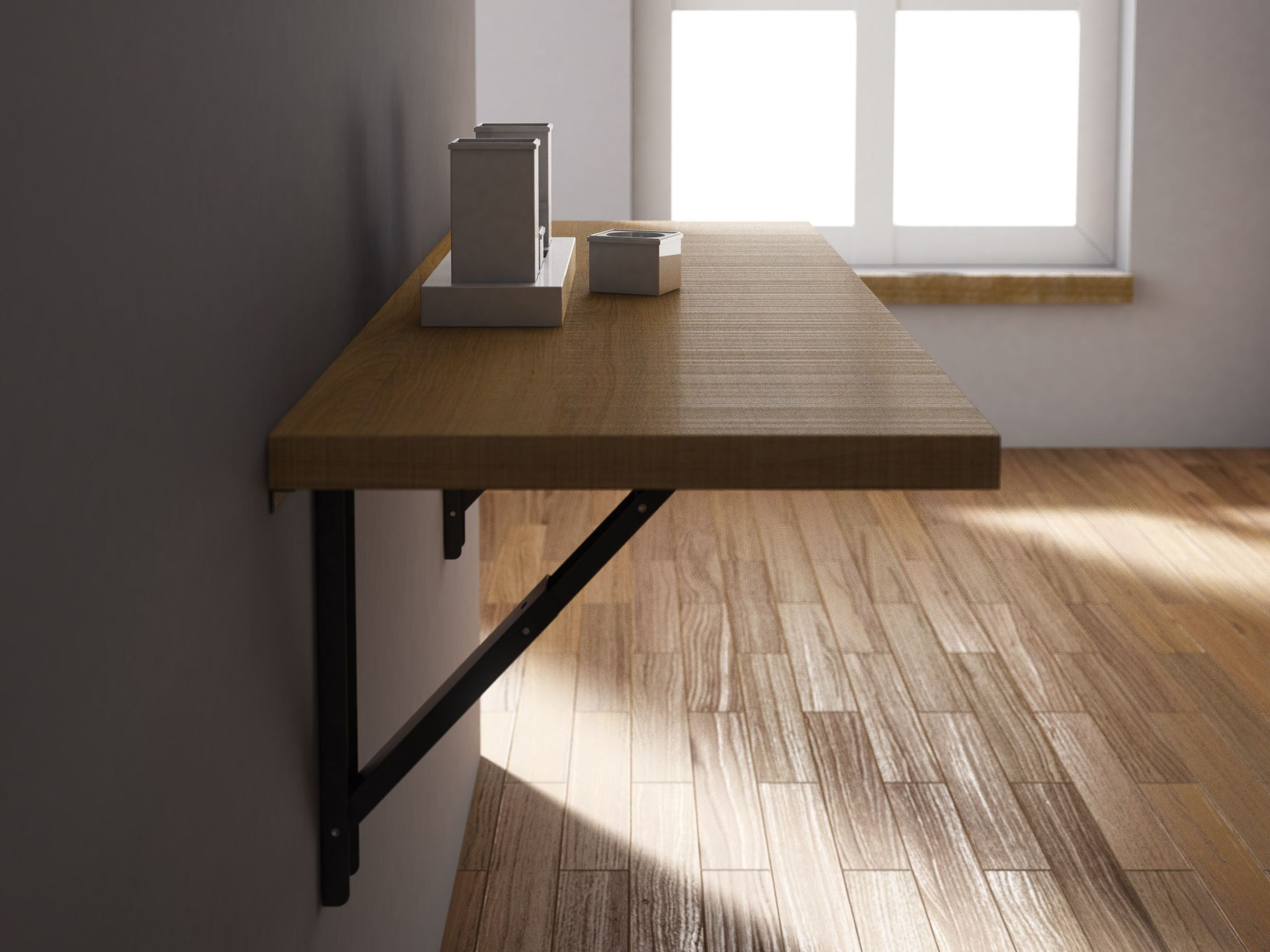 Wall mounted drop-leaf wooden table VULCANO - CANCIO | Breakfast ...