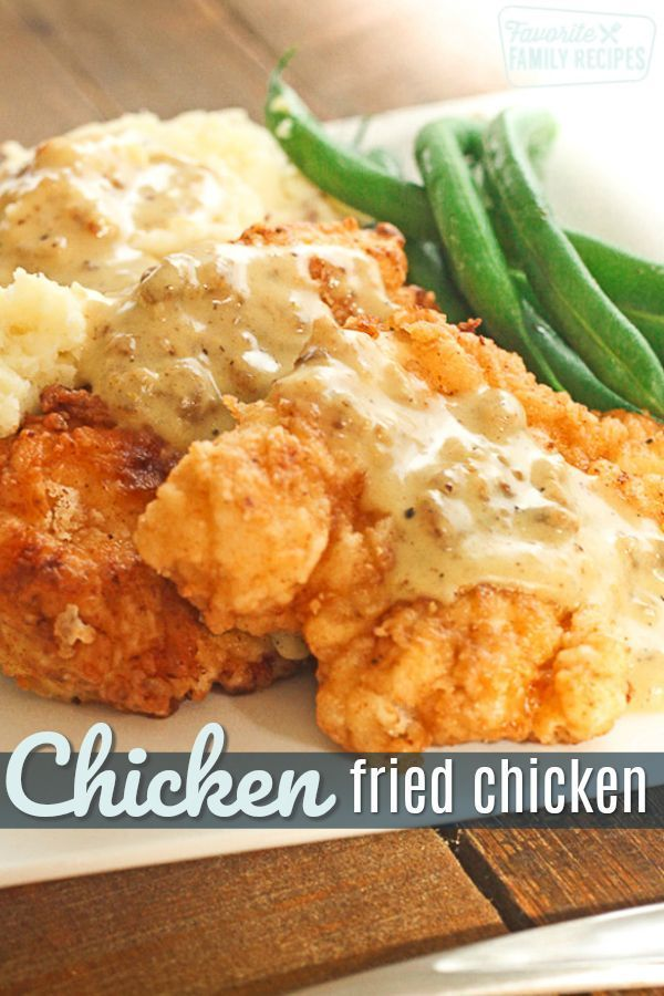 This Chicken Fried Chicken with Homemade Country Gravy is a true family favorite...  -