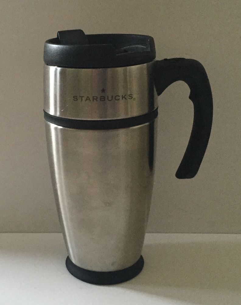 Starbucks Travel Mug Coffee Cup Handle 2001 Bartista 16 Ounce Dishwasher Safe