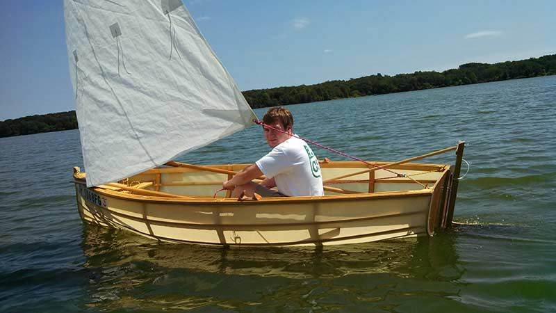 Duckworks The Lawton Tender Skin On Frame Sail Boat In