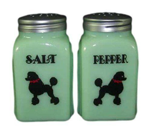 Jadeite Pinup Arch Salt/&Pepper Shakers