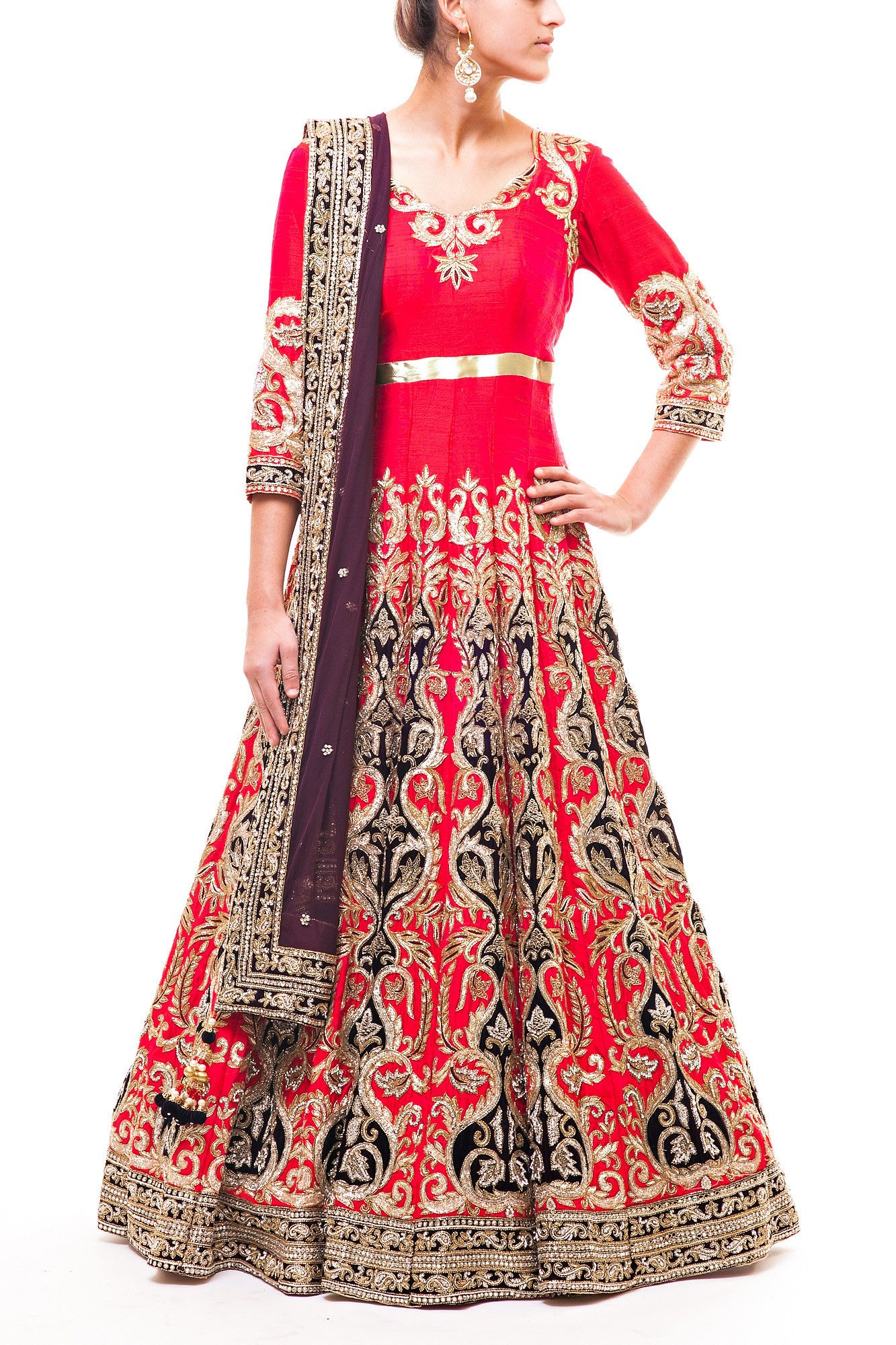 Wellgroomed Designs- Gorgeous Red Bridal Anarkali | Your Pinterest ...