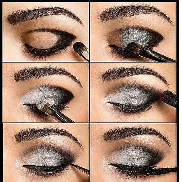 Silver eyes All Made Up and Nowhere To Go Pinterest Ojos - maquillaje de ojos ahumados