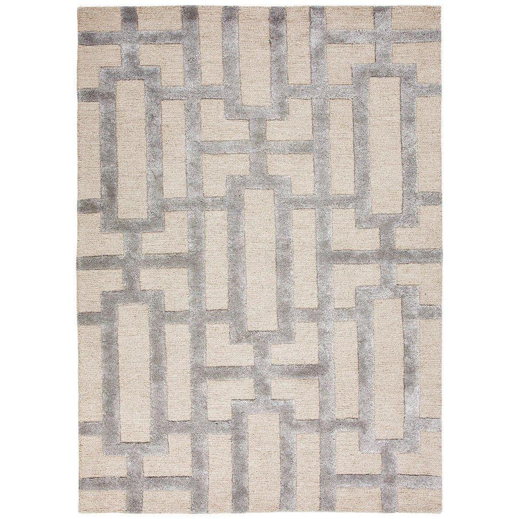 Jaipur City Dallas Hand Tufted Wool Rug Silver grey rug