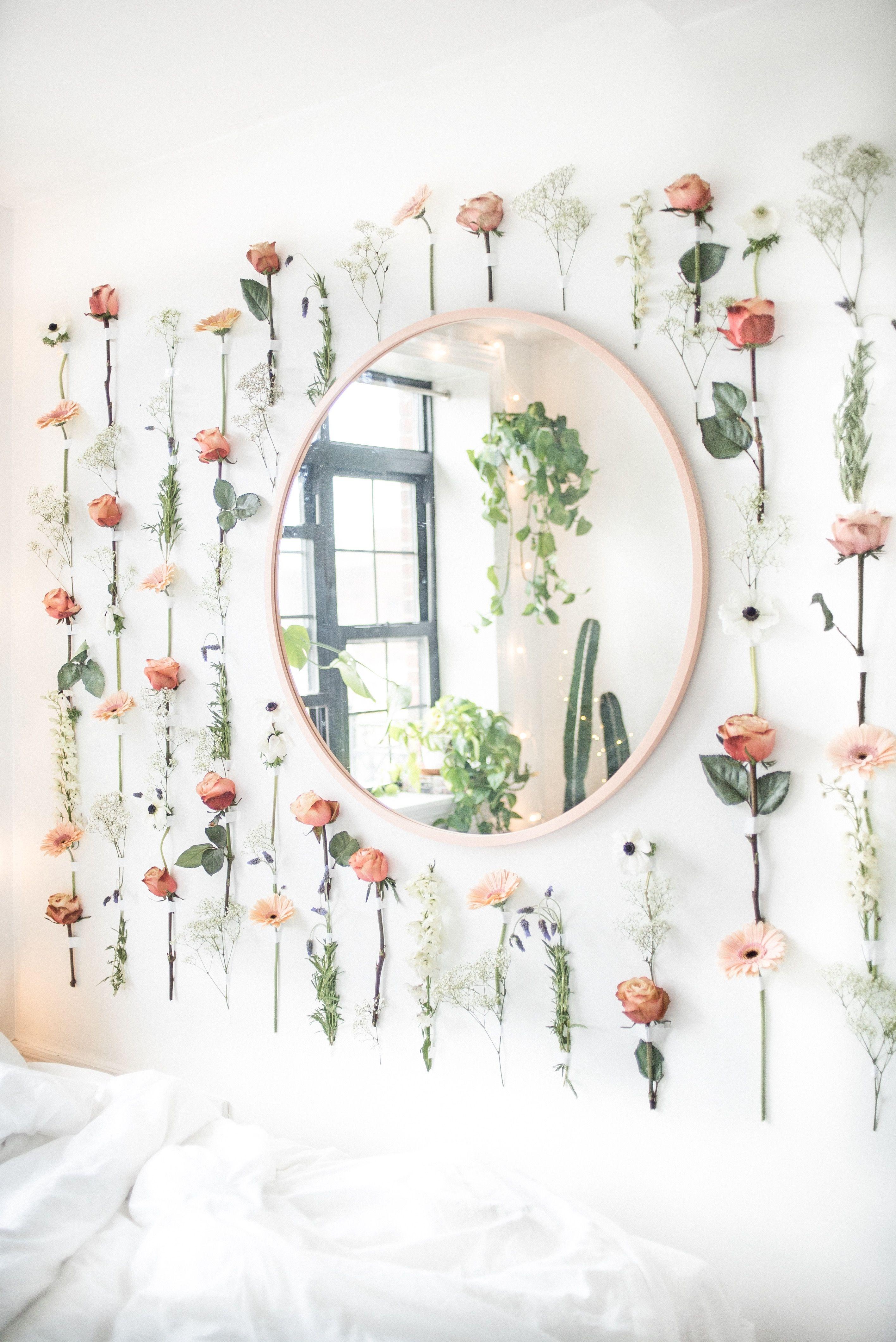Diy Flower Wall Bedroom