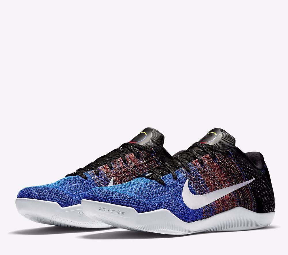 Nike KOBE XI Elite Low BHM Mens Basketball Shoes 9.5 Multi-Color Blue 822522  914