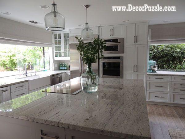 River White Granite Countertops Worktops Traditional Kitchen