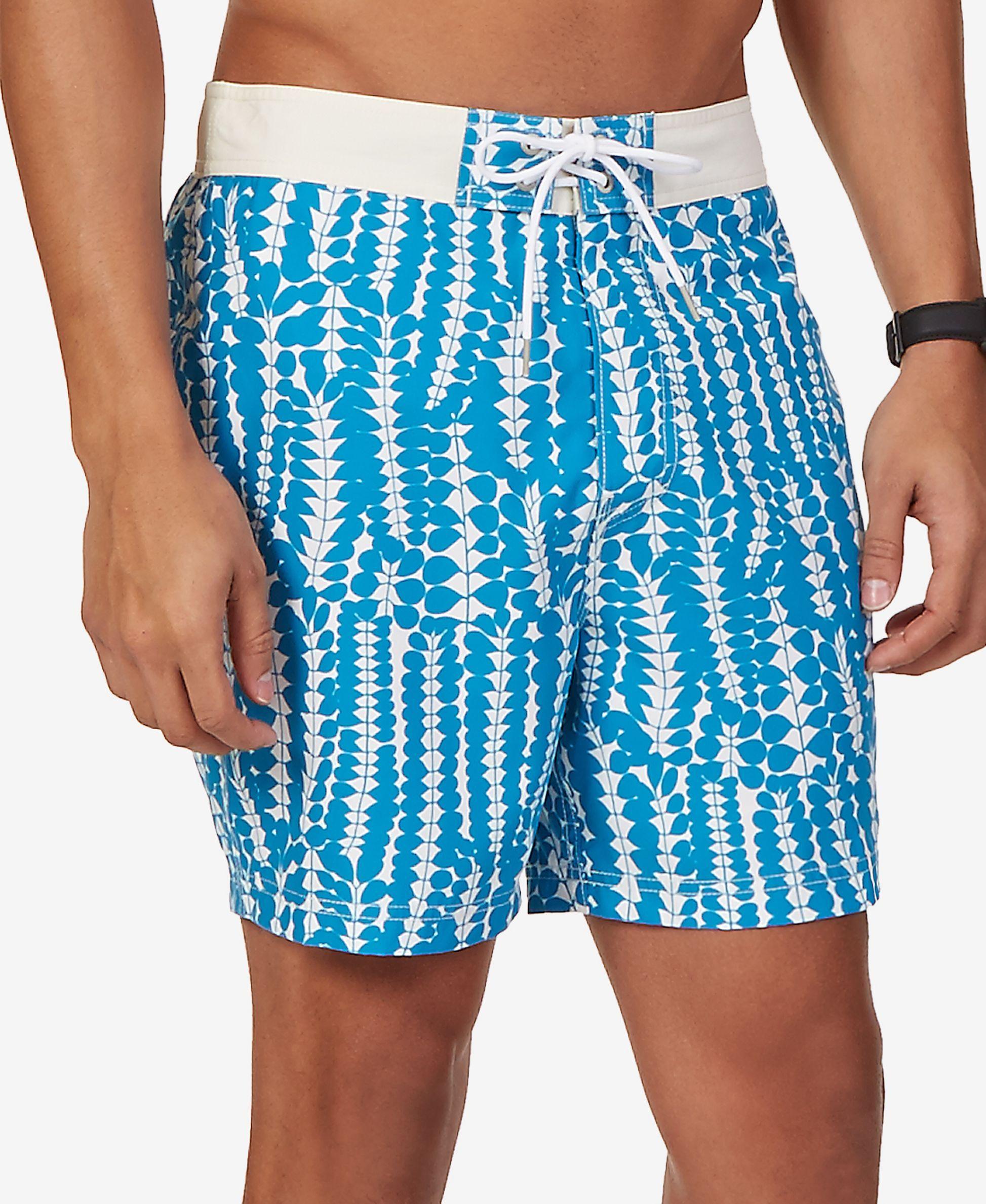 f0f8e2c4bced2 Nautica Men's Pieced Floral-Print Swim Trunks | 亲子 in 2019 | Swim ...