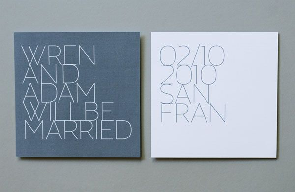 contemporary wedding invitations | rosebrook meyer : stylish,