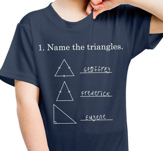 47bf79c67 Funny Shirt Kids, Humorous Youth Shirt, Name The Triangles Shirt, Gift For  Kids, Math T Shirt, Back