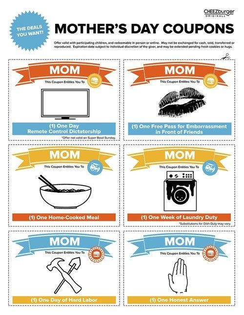 fun coupons for mom