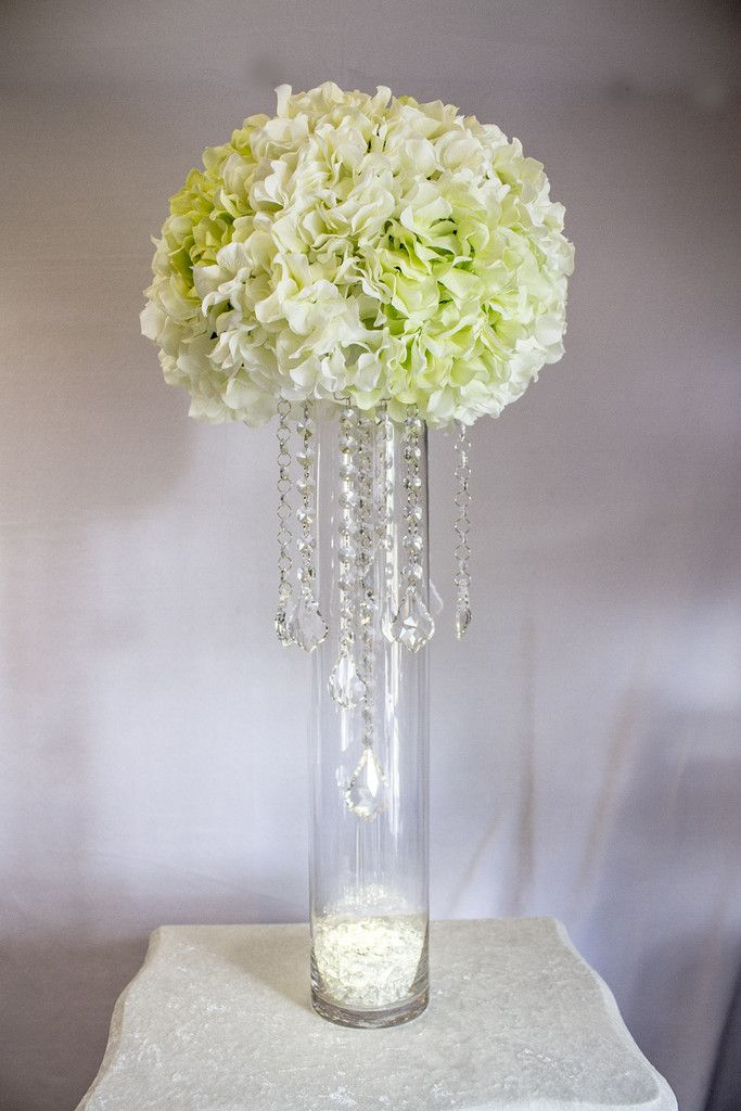 How to make a wedding centerpiece using crystals chain on a budget diy wedding centerpiece using silk flowers and chandelier hanging crystals from crystal prism world crystalprismworld aloadofball Images