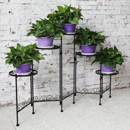 Patio Garden Plant Stand Flower Pots Flower Pot Holder