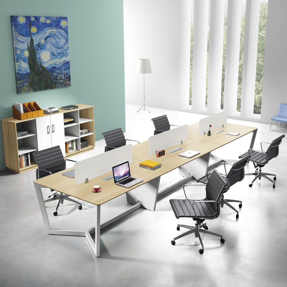 Cheap Price Six Person Mfc Workstation 6 Seater Office Staff Desk