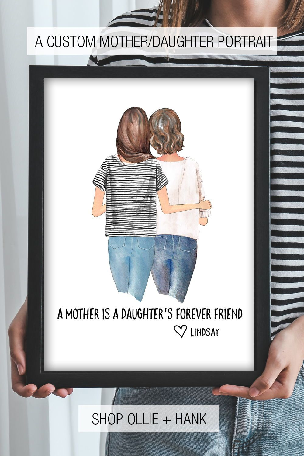 Mothers Day Gift Ideas | Mother Daughter Print