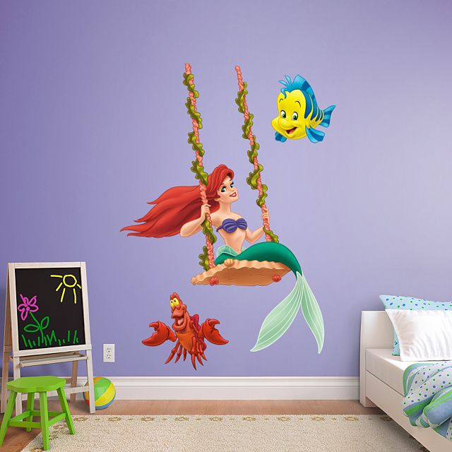 Great Ariel   Swinging Wall Decal | Shop Fathead® For Disney Princesses Decor