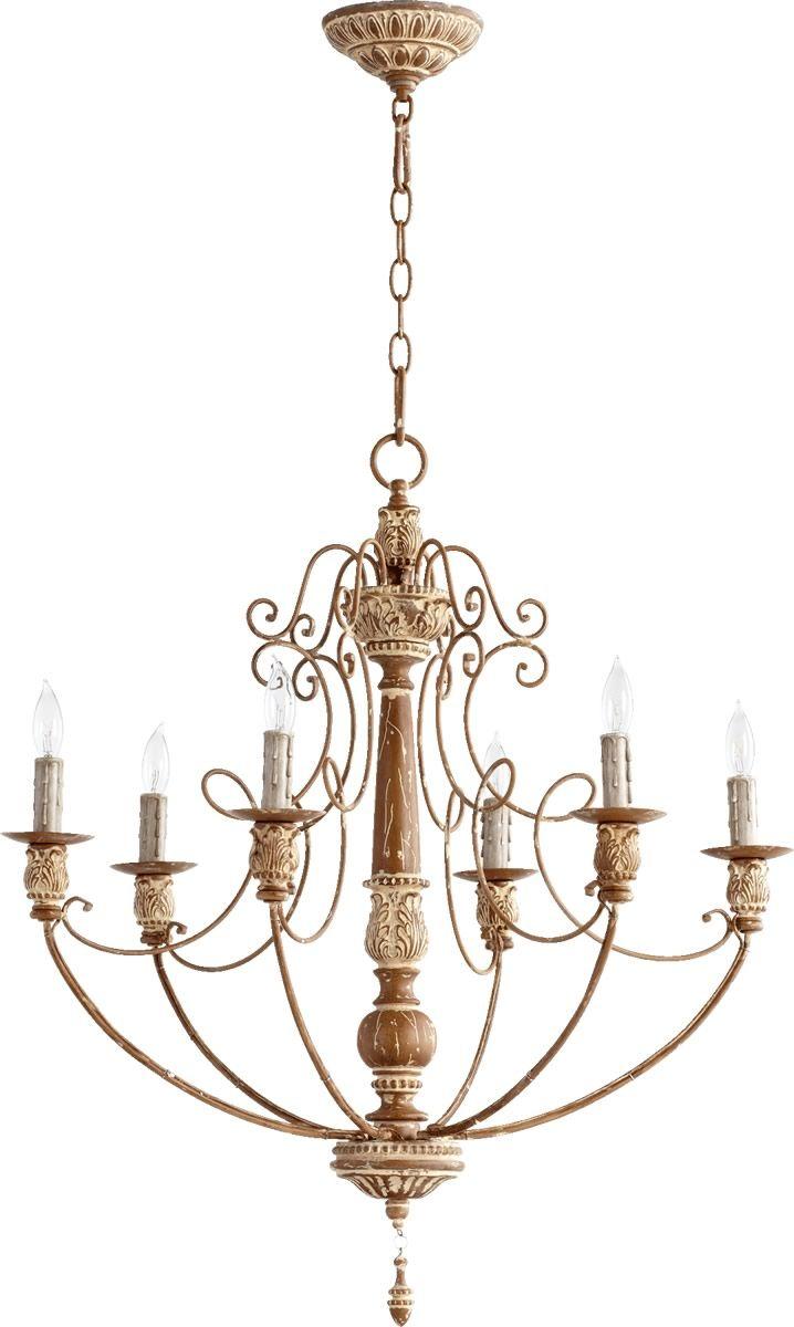 27 inchw salento 6 light chandelier french umber salento quorum lighting salento french umber transitional chandelier w 6 light arubaitofo Images