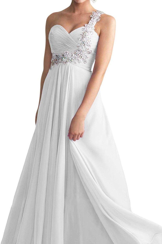 Vienna bride chiffon oneshoulder long bridesmaid dress for wedding