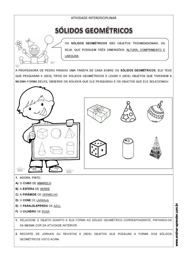 Cantinho Do Educador Infantil Atividades De Geometria