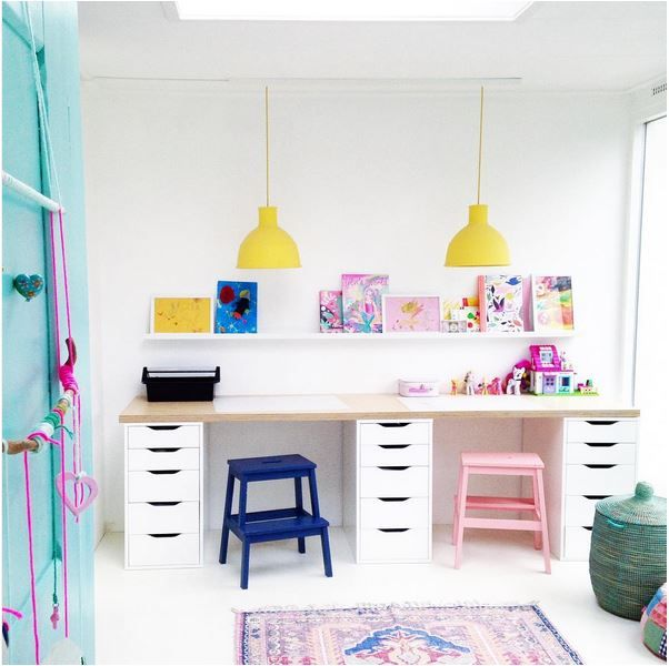 Kids Rooms On Instagram Kids Workspace Kids Writing Desk