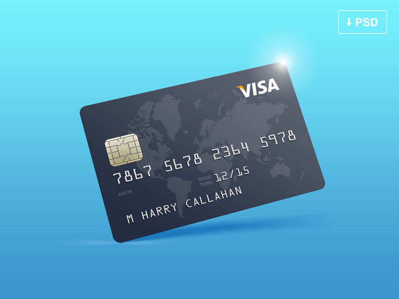 Credit Card Mockup Free Psd Credit Card Design Free Credit Card Free Visa Card