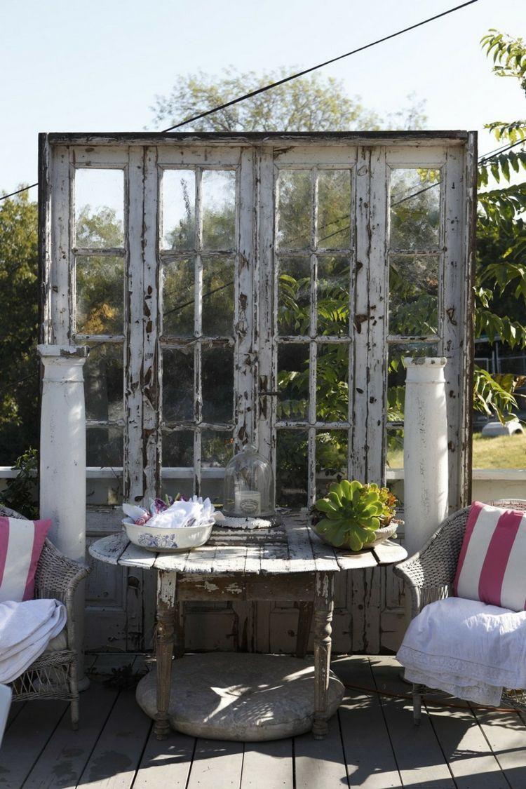 55 idées déco jardin – réutiliser les vieilles portes et ...