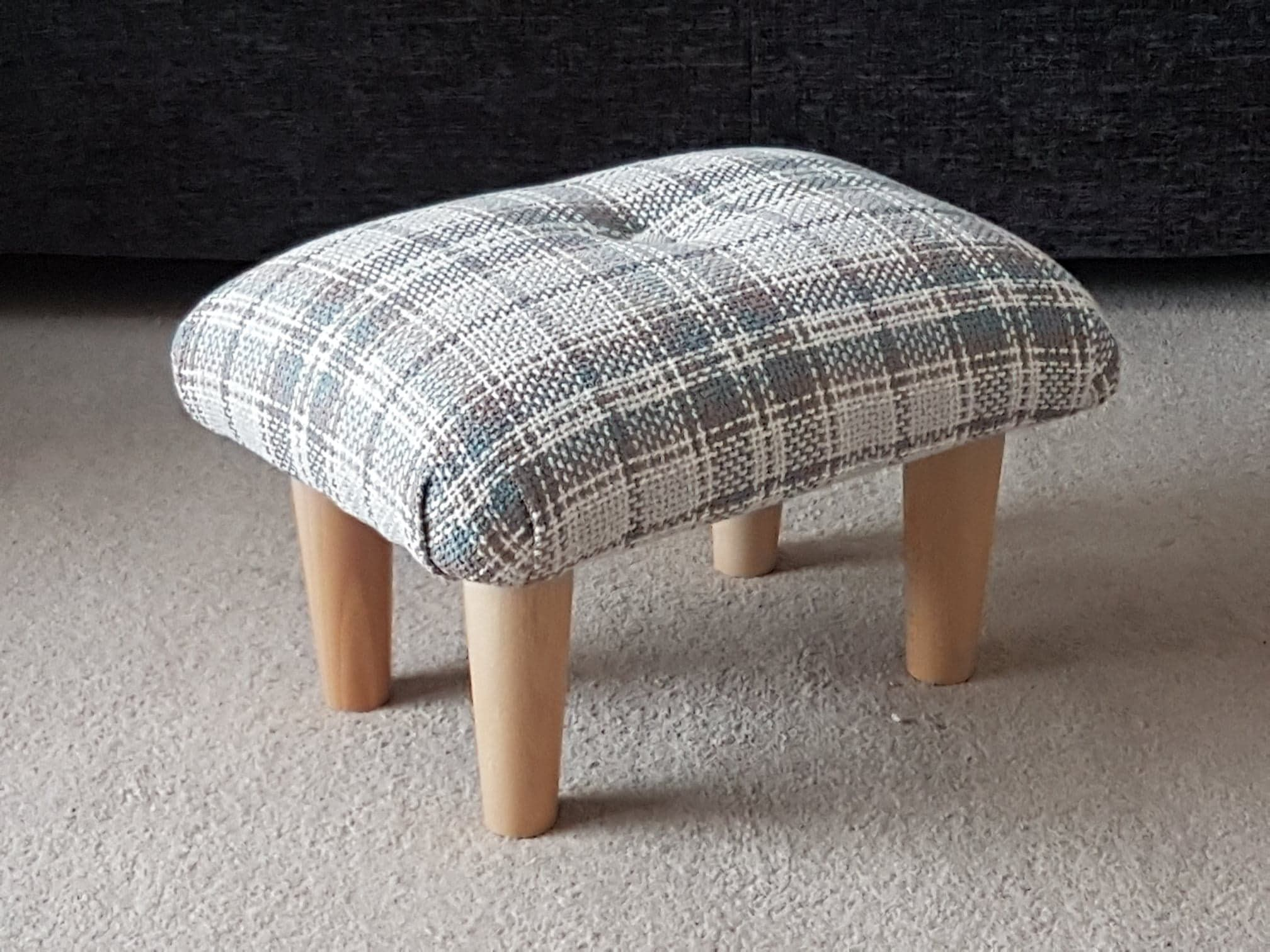 Small Footstool Upholstered Footstool Gift Idea Small Foot Stool Upholstered Foot Stool Handmade Foot