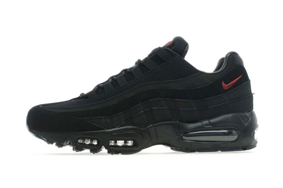 d1369f8f61b4 Nike Air Max 95 Black Team Red