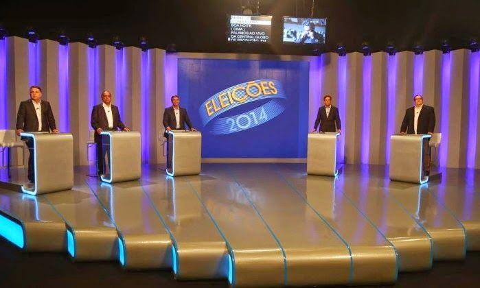 POLÍTICA - ELEIÇÕES 2014 JORNAL O RESUMO: Detalhes do debate para Governador do Rio na Globo...