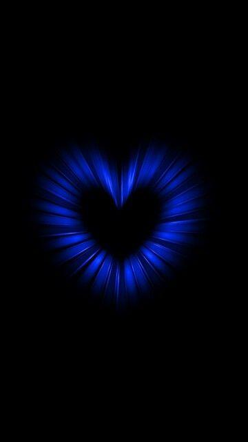 Blue Heart Heart Wallpaper Plain Wallpaper Iphone Cute