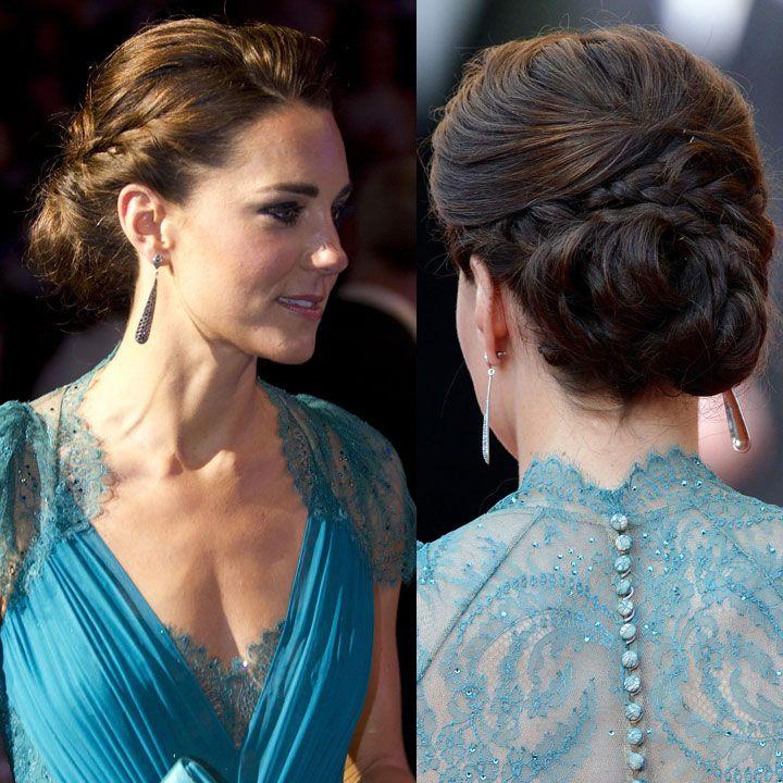 Kate Middleton, son royal chignon tressé Hair styles